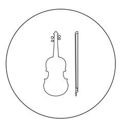 Violin icon black color in circle vector