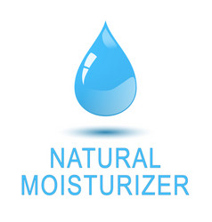 Water - natural moisturizer square concept poster vector