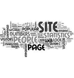 what do your site statistics mean anyway text vector image