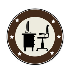 workplace accesories flat icons vector image
