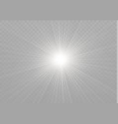 Yellow glowing light burst explosion on vector