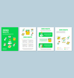Zero waste lifestyle brochure template layout vector