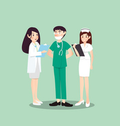a group of professions about medical vector image vector image