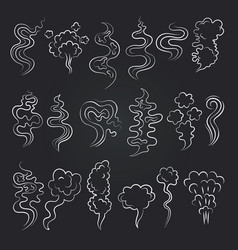 cartoon pictures of smell and steam vapor and vector image