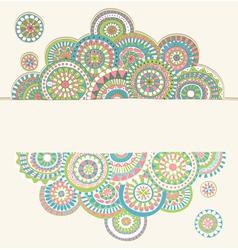 circles doodle color vector image
