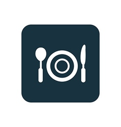 restaurant icon Rounded squares button vector image