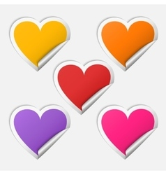 Sticker heart set vector image