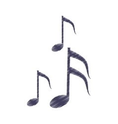 drawing musical note melody symbol vector image