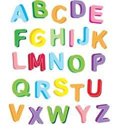 3d colorful alphabet vector image