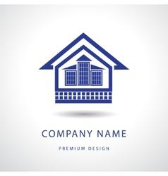 Abstract real estate logo design template vector