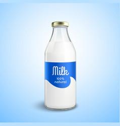 Closed Bottle Of Milk vector image
