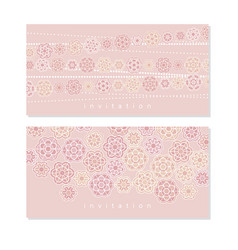 cute pale blossom pattern for baby shower vector image vector image