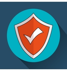 security insurance shield vector image