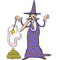 Wizard fantasy cartoon vector