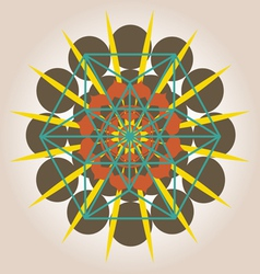 geometrical design with sacral sense vector image vector image