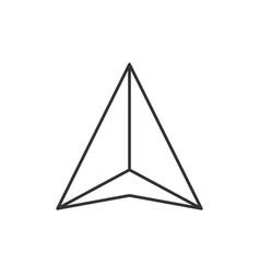 gps navigation arrow icon vector image vector image