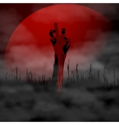 Halloween Zombie hand on vector image vector image