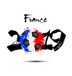 2019 new year and a soccer ball as flag france vector image