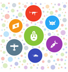 7 military icons vector