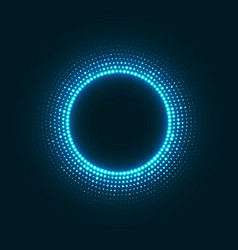 abstract disco background with neon glowing vector image