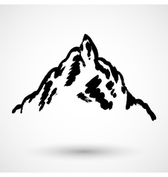Abstract high mountain grunge icon vector