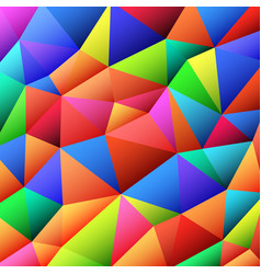 Abstract vitrage with triangular multi colors grid vector