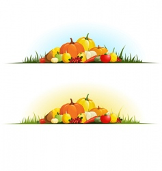 autumn gifts vector image