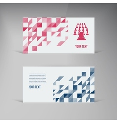 banners and squares Color set mosaic vector image