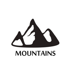 Black logo of mountains isolated on white vector