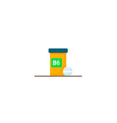 box with vitamins b6 vector image