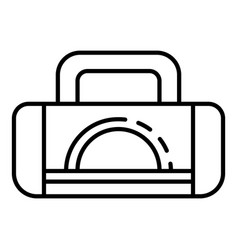 Boxing sport bag icon outline style vector
