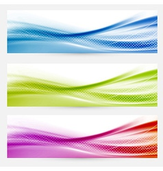 Bright swoosh lines headers footers templates vector