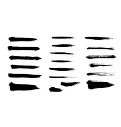brush strokes set hand drawn scribble abstract vector image