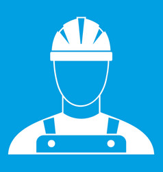 builder icon white vector image
