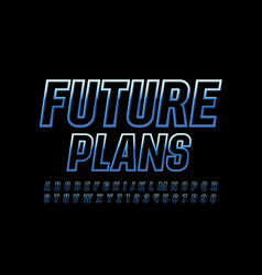 business template future plans with blue me vector image