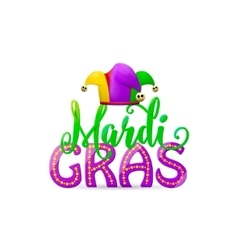 cartoon Mardi Gras text vector image