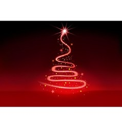 Christmas Glowing Spiral vector image