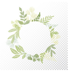 Circle floral frame with branches and leaves vector