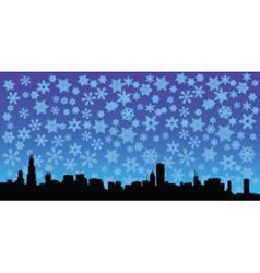 City skyline with stars vector