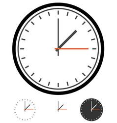 Clock clockface time schedule vector