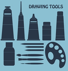Collection of drawing tools for your design vector image