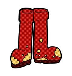 Comic cartoon muddy boots vector