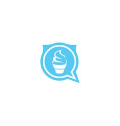 creamy cupcake kuchen for logo design muffin in vector image