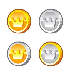 Crown Coins vector