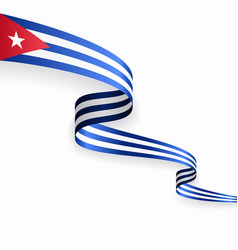 cuban flag wavy abstract background vector image