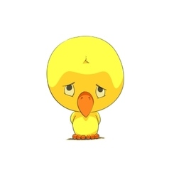 Cute chick character vector image