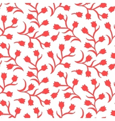 Ditsy floral pattern with small red tulips vector image