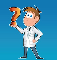 Doctor and question mark vector