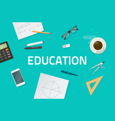 Education concept flat style vector