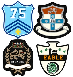 emblem badge set vector image